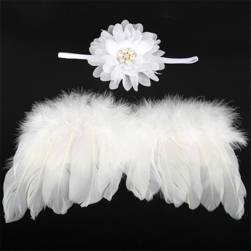 Angel feather wings baby girl flower headband hair head bands photo shoot accessories for newborns hairband-ACCESSORIES-SheSimplyShops