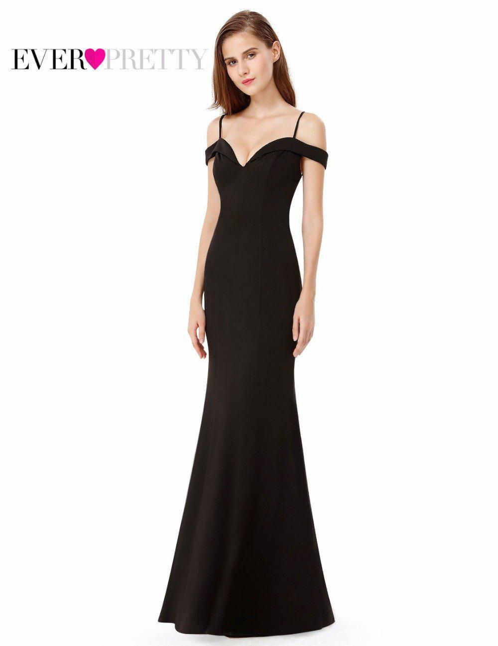 Prom Dresses Sexy V-neck Women's Elegant Off-the-shoulder Sleeveless Long Prom Party Dresses Ever Pretty EP07017-Dress-SheSimplyShops