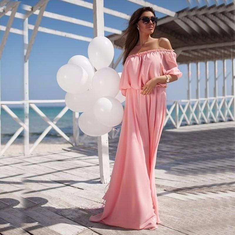 Sexy Long Maxi Chiffon Dress-Dress-SheSimplyShops