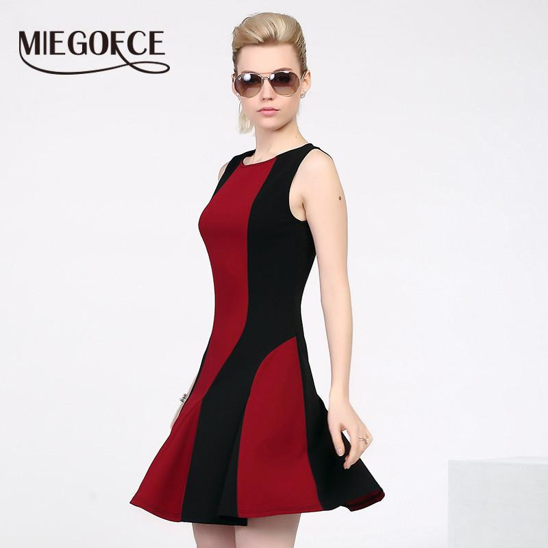 MIEGOFCE summer New arrival women's dress sleeveless fitted dress with round neck European style high quality Slim workwear-Dress-SheSimplyShops
