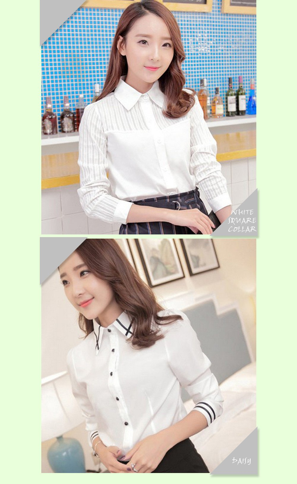 Cotton Lace Embroidery Turn-Down Collar Long Sleeve Tops Shirt-SHIRTS-SheSimplyShops