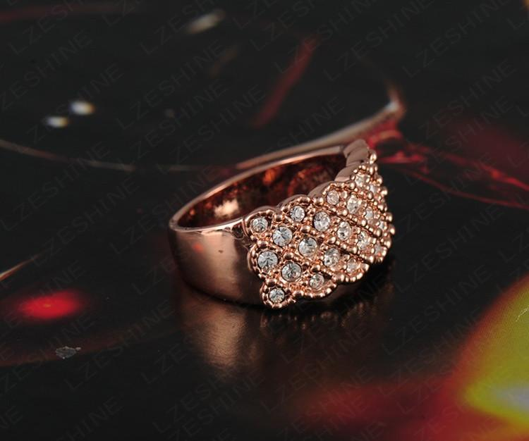 Unique Luxury Rose Gold Plating Engagement Rings/Sapphire Rings With Austrian Crystals Charm Jewelry-JEWELRY-SheSimplyShops