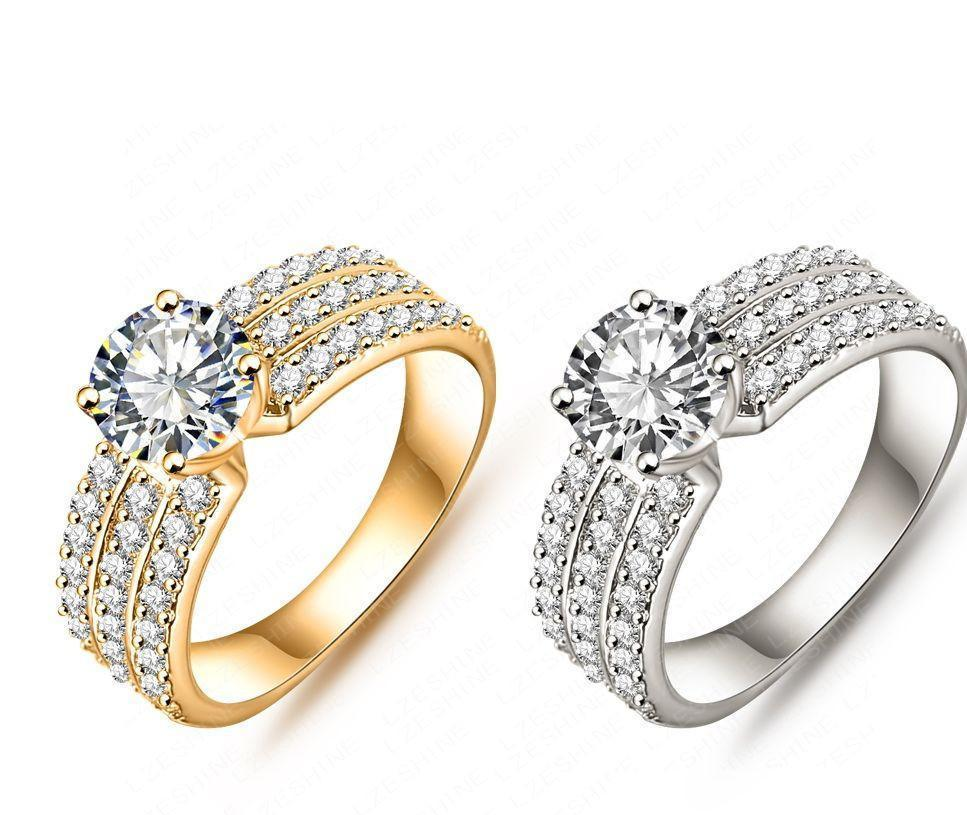 New Promotion Trendy Silver Plated AAA Zircon Women Jewelry Gift Rings-JEWELRY-SheSimplyShops
