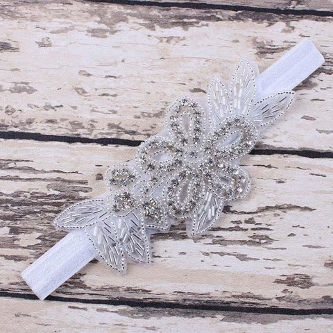 Fashion Children Baby Girls Pearl Flower Leaves Hairband Rhinestone Headband Wedding Photography Tiara Hair Band Accessories-ACCESSORIES-SheSimplyShops