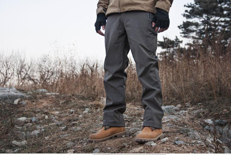 Mens Loose Windproof Soft Shell Pants-PANTS-SheSimplyShops