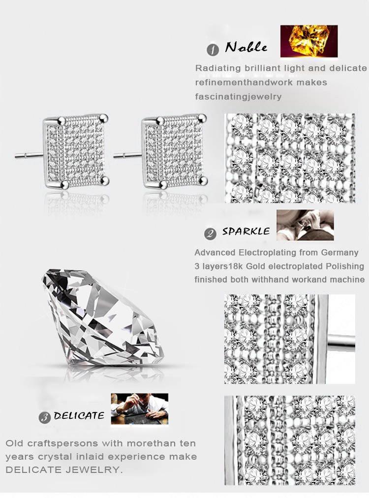 LZESHINE Square Earring Studs Gold /Silver Plated Micro Inlay AAA Cubic Zirconia Cute Earrings For Fashion Women CER0101-EARRINGS-SheSimplyShops