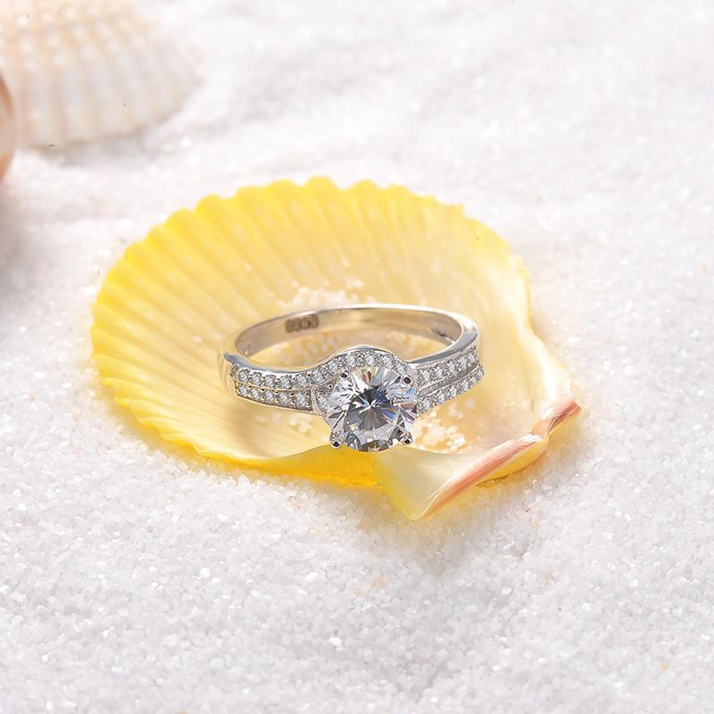 Wedding Ring 925 Sterling Silver Crystal Ring-Women - Jewelry - Rings-SheSimplyShops