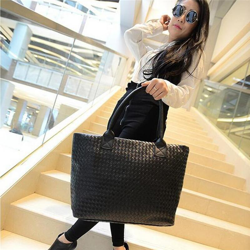 bag hot sale women handbag female large tote lady wolven big black shopping bags-BAGS-SheSimplyShops