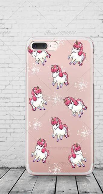Yoga Coffee Unicorn Design Case For Iphone 7 7Plus 6 6S 5 5S SE Transparent Silicone Phone Cover-Phone Accessories-SheSimplyShops