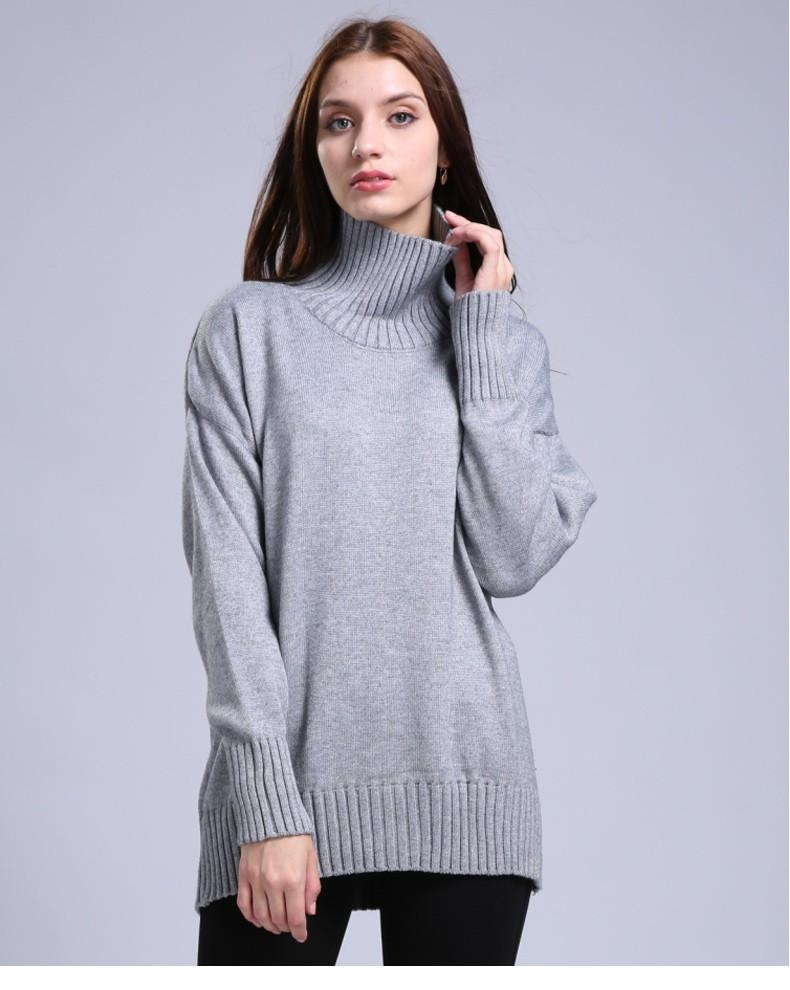 Women's Autumn&Winter Soft Blend Knitted Pullover Sweater Female Knitwear Thick Sweaters-SWEATERS + CARDIGANS-SheSimplyShops