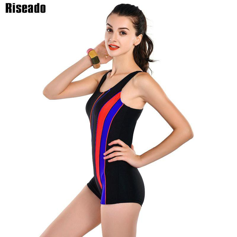 New 4XL Plus Size Swimwear Women One Piece Swimsuit Sports Swim Suits Bathing Suits-ACTIVEWEAR-SheSimplyShops