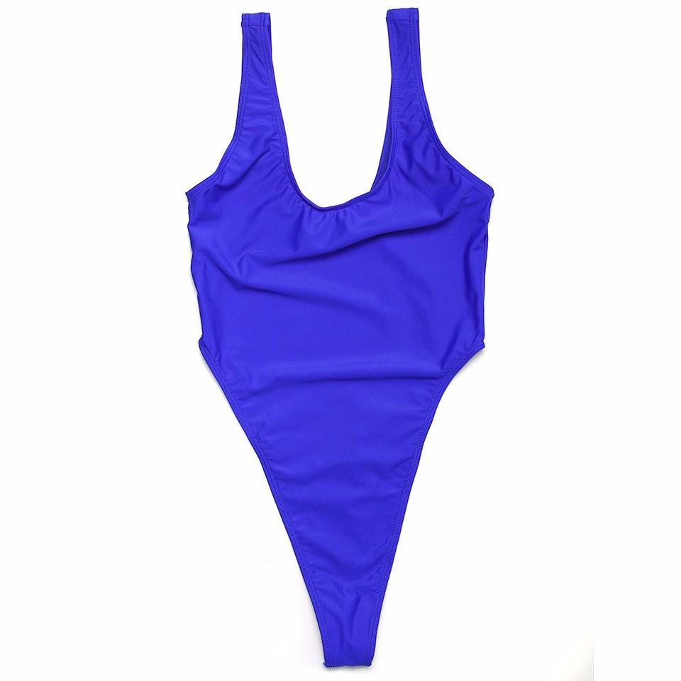 Sexy one piece Women Swimwear solid Bikini Swimsuit double layer Bathing Suit Beachwear-SWIMWEAR-SheSimplyShops