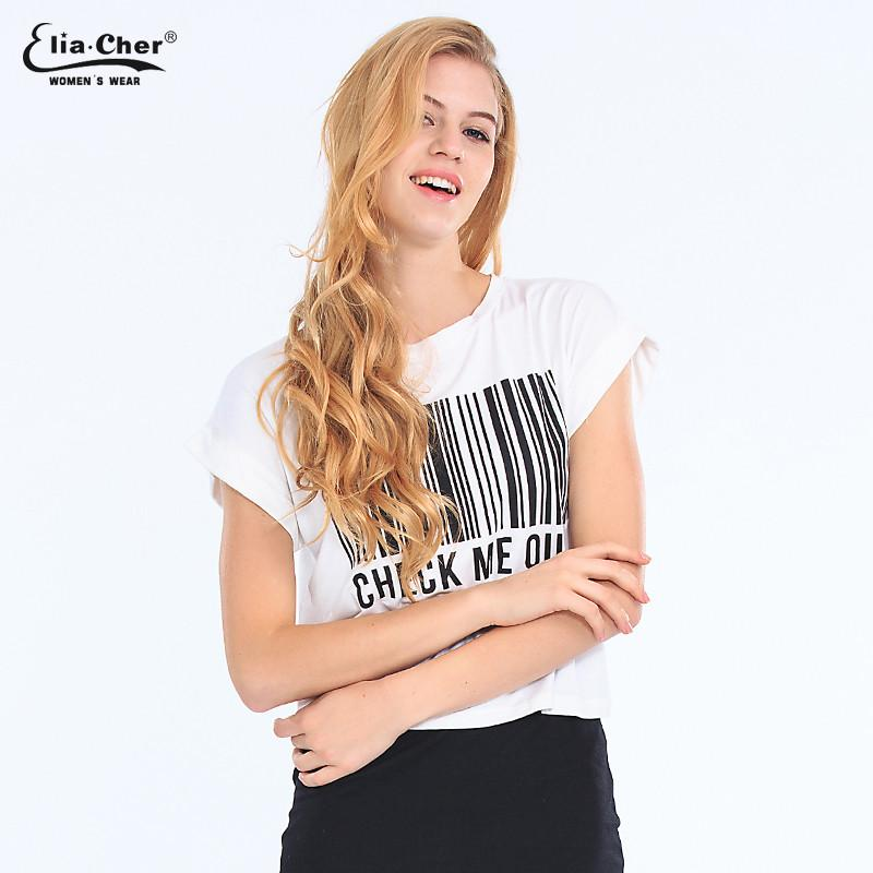 Women tops DO IT Letters Printed Cotton T-shirts short sleeve t shirts Stretch Cotton tees Modal tops-SHIRTS-SheSimplyShops
