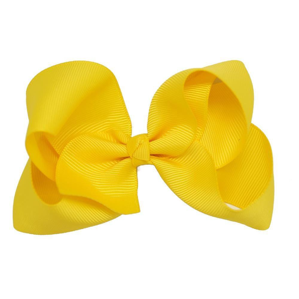 Baby Girls Solid Ribbon Hair Bows Boutique Hair Bow With Alligator Clips Handmade Girl Hair Accessories-ACCESSORIES-SheSimplyShops