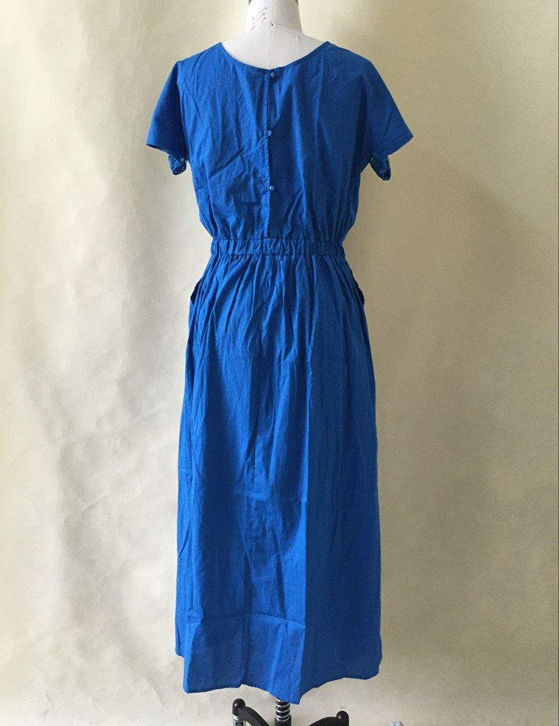 Short Sleeve Lace summer Dress big sizes new women summer Plus Size long dress maxi party dress vintage vestidos L-5XL-Dress-SheSimplyShops