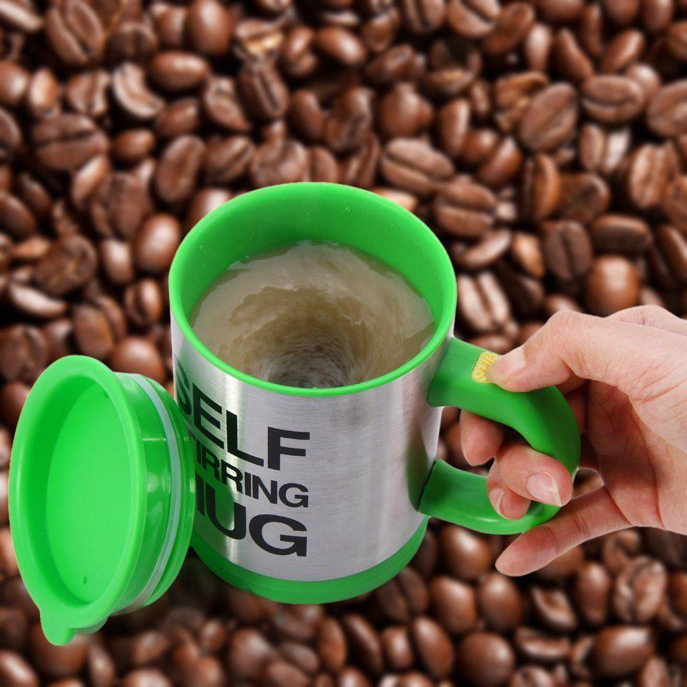 400Ml Mug Automatic Electric Lazy Self Stirring Mug Automatic Coffee Cup Milk Mixing Self Stirring Coffee Cup Stainless Steel-ACCESSORIES-SheSimplyShops