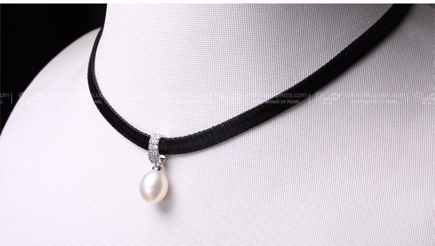 White Pearl Choker Pendant Tear Freshwater Pearl Necklace Coin Pearl Trendy Necklace Lady Best Gift-NECKLACES-SheSimplyShops
