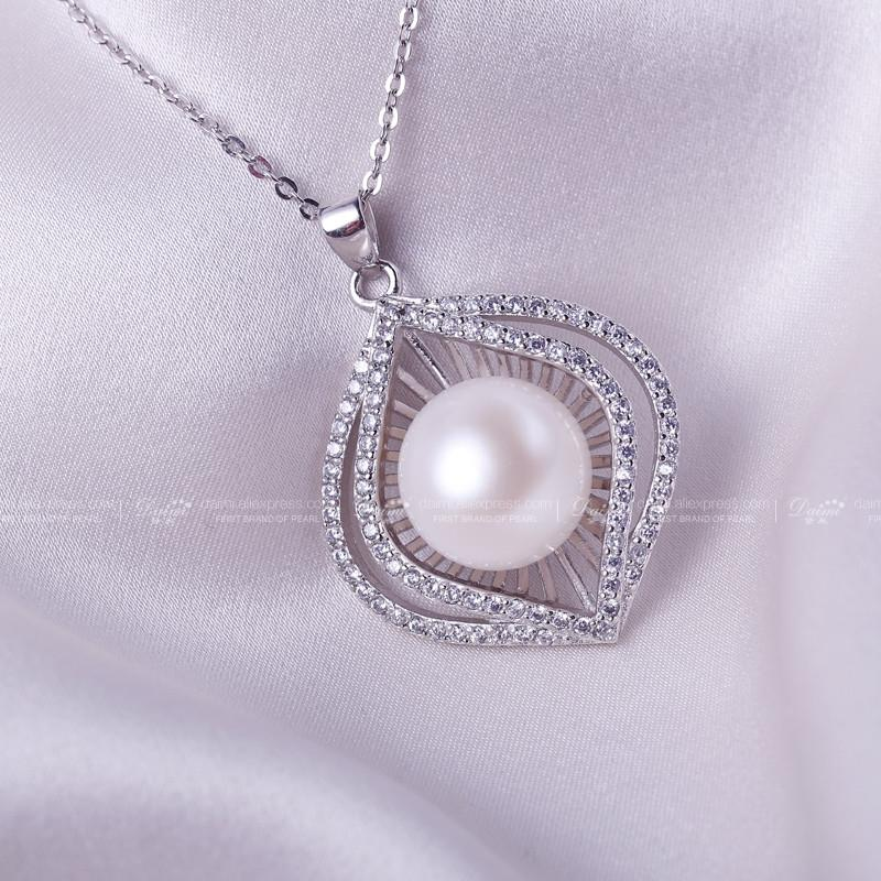 Natural White Pearl Luxulry Pendant Huge Pearl New Style Freshwater Pearl Pendant Necklace-NECKLACES-SheSimplyShops