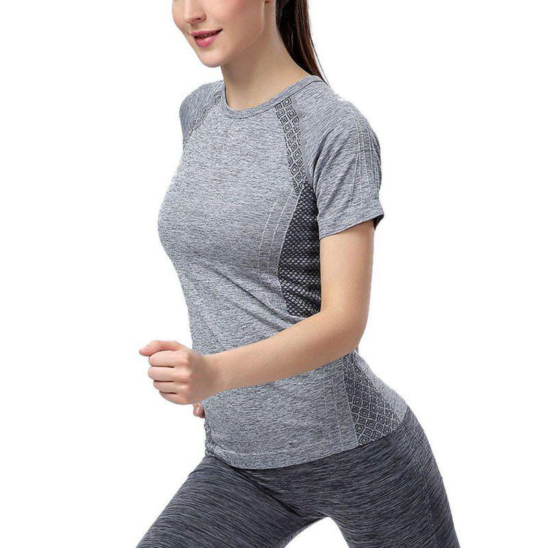 Women Sweatshirt Workout Gym Jersey Fitness Elastic Quick-Dry Sport Top Running Yoga T Shirt-ACTIVEWEAR-SheSimplyShops
