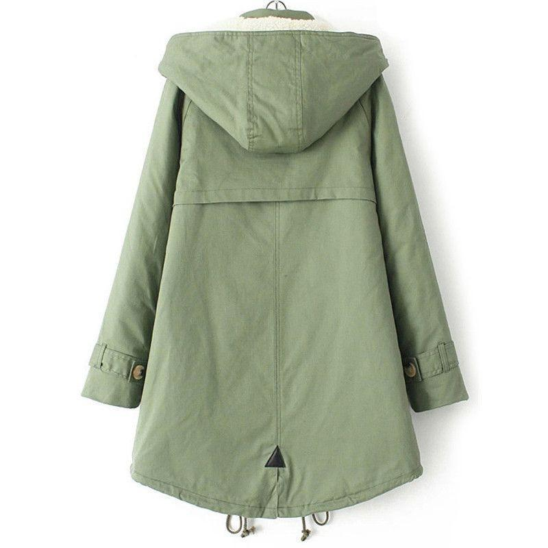 COLROVIE New Arrival Korean Design Winter Women Fashion Outwears Novelty Warm Casual Stylish Hooded Long Sleeve Pockets Coat-Coats & Jackets-SheSimplyShops