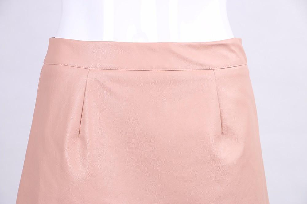 Sexy High Waist Leather Mini Skirts-Dress-SheSimplyShops