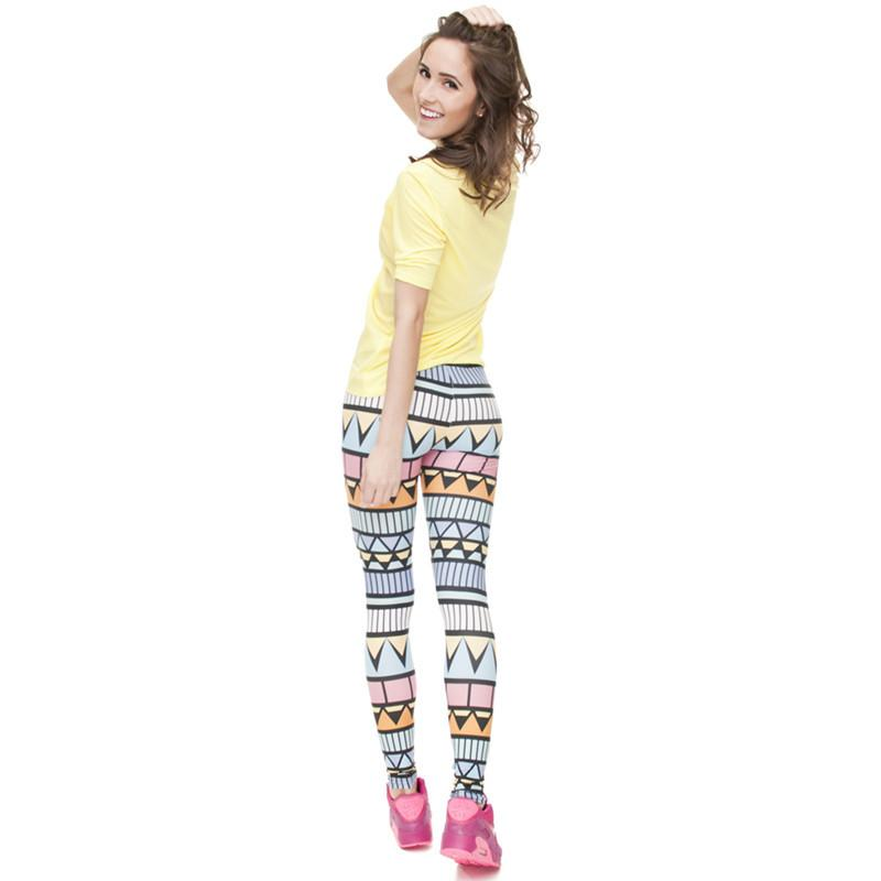 Zohra Brand New Fashion Aztec Printing legins Punk Women's Legging Stretchy Trousers Casual Slim fit Pants Leggings-PANTS-SheSimplyShops