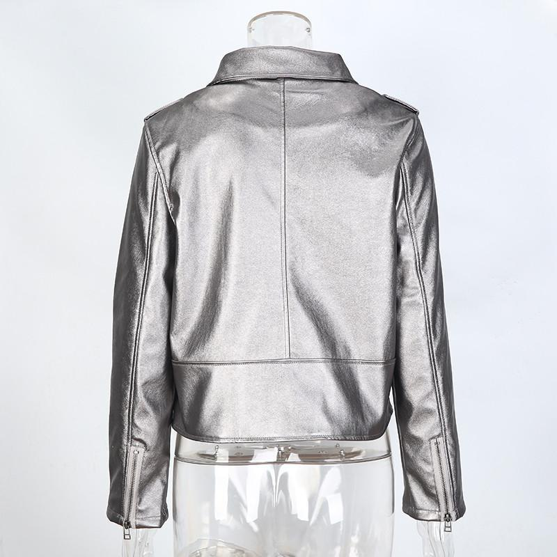 Punk Style Faux Leather Jacket-Coats & Jackets-SheSimplyShops