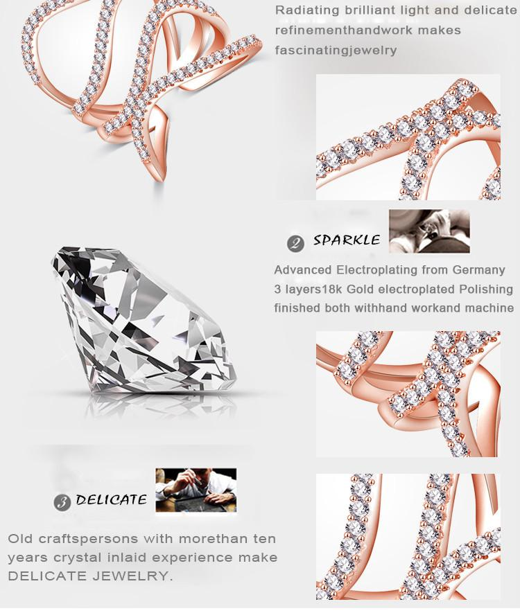 LZESHINE Wedding Double Waves Rings Silver Plate Inlayed 1.1mm 0.01 Carat Round Created Diamond Anillos Fine Women Rings CRI1033-SheSimplyShops