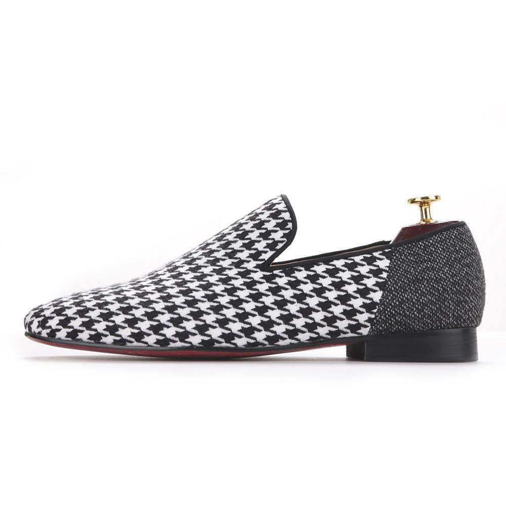 Piergitar brand Handmade men flats shoes with Swallow gird patchwork Party and Banquet men dress shoes big size men loafers-Dress-SheSimplyShops