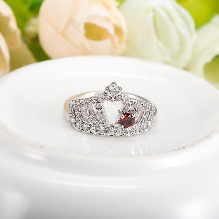 LZESHINE Crown Shape Ring Silver Plate Created Diamond Jewelry Ring Engagement Wedding Accessories Aliancas De Casamento CRI1011-JEWELRY-SheSimplyShops