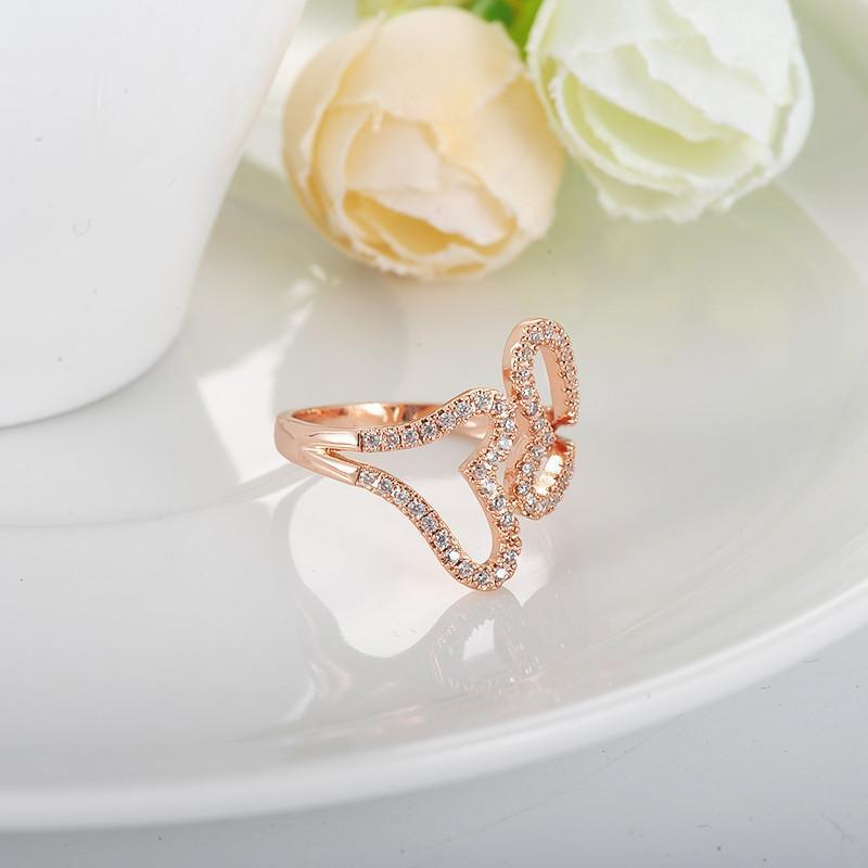 LZESHINE Romantic Double Heart Loving Rings Rose Gold/Silver Plated with AAA Zircon Fine Jewery Ring CRI1027-SheSimplyShops