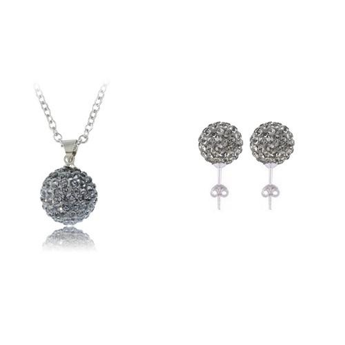 Jewelry set Shamballa Neckalce /Earrings Set Crystal AB Clay Disco Ball Shamballa Sets For Gift JST0007mix2-EARRINGS-SheSimplyShops