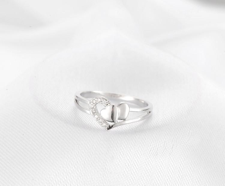 Girls Princess Heart Design Engagement Wedding Rings White Gold Plated Jewelry for Women Valentine's Day Gift CRI0246-JEWELRY-SheSimplyShops