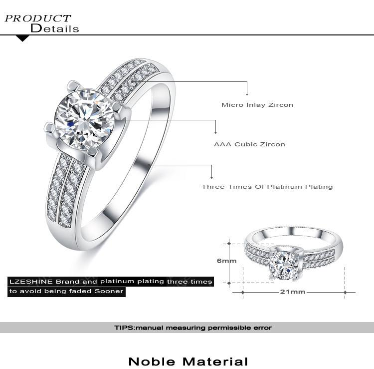 Exquisite Style White Gold Plated Rings Top Quality Jewellry Rings with AAA Cubic Zirconia Mothers Day Gifts for Mom CRI0295-B-JEWELRY-SheSimplyShops