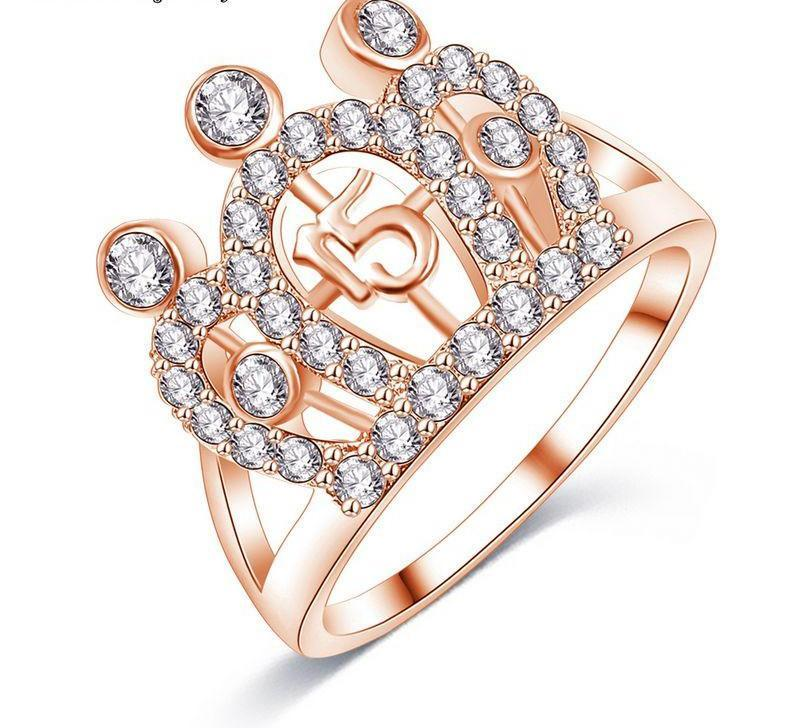 LZESHINE Brilliant Party Crown Rings Rose Gold/Silver Plated AAA Zirconia Rings for Women Fashion Jewelry-JEWELRY-SheSimplyShops