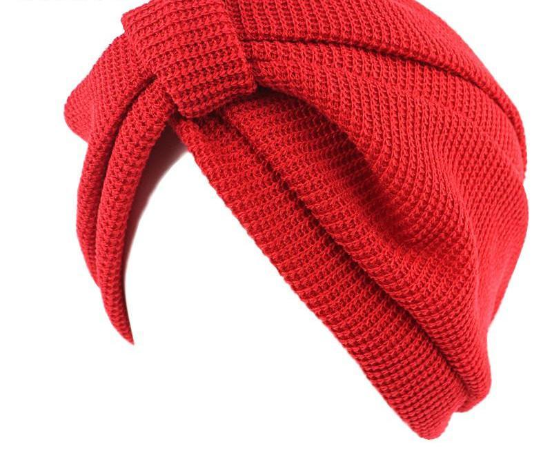 HDY Haoduoyi Fashion Warm Hats for Women Winter New Soft Elastic Girls Hats Solid Cotton Knit Headbands Casual Turban-HATS-SheSimplyShops