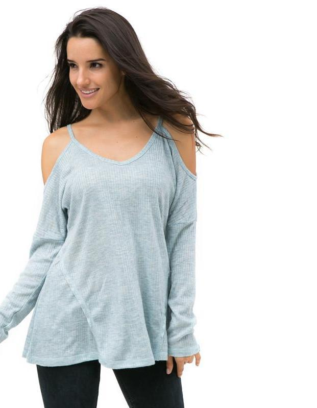 Off Shoulder Worsted Women Sweatshirt Chic Hoodies Sweatshirts Plus Size Women Clothing Lady Tops Pullovers-HOODIES-SheSimplyShops