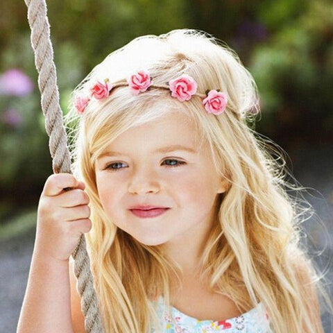 Baby Flower Headband Mini Rose Flowers Headbands Summer Style Baby Girls Head wear Hair Band accessories for Photography props-ACCESSORIES-SheSimplyShops