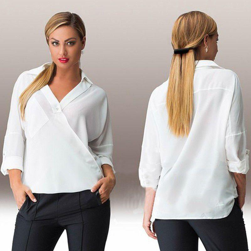 Casual Long Sleeve Loose Collar Shirts-SHIRTS-SheSimplyShops