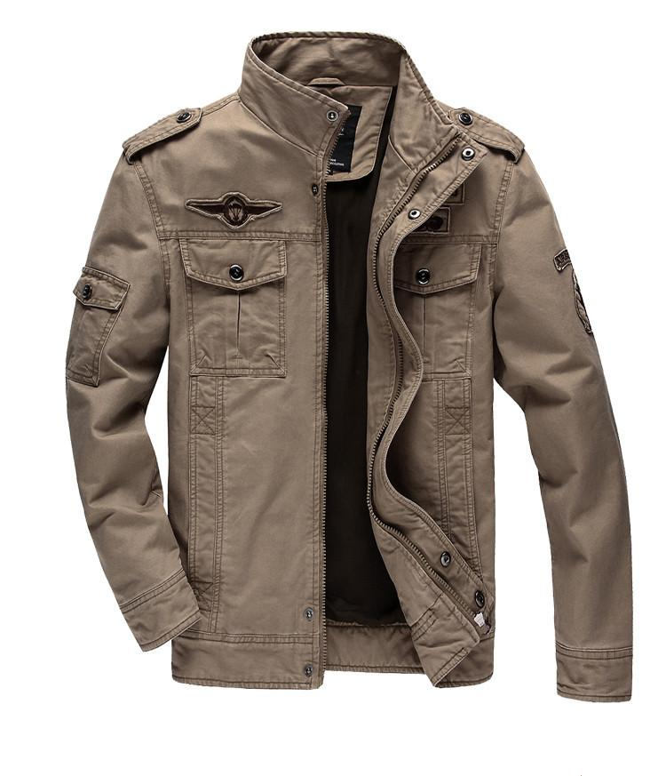 Army Military Embroidery Outdoors Jacket-Coats & Jackets-SheSimplyShops