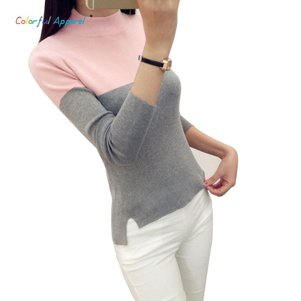 Colorful Apparel Fashion Women Long Sleeve Turtleneck Pullover Sweaters Pullover Female Lover Pull Femme Winter Sweaters CA538-SWEATERS + CARDIGANS-SheSimplyShops