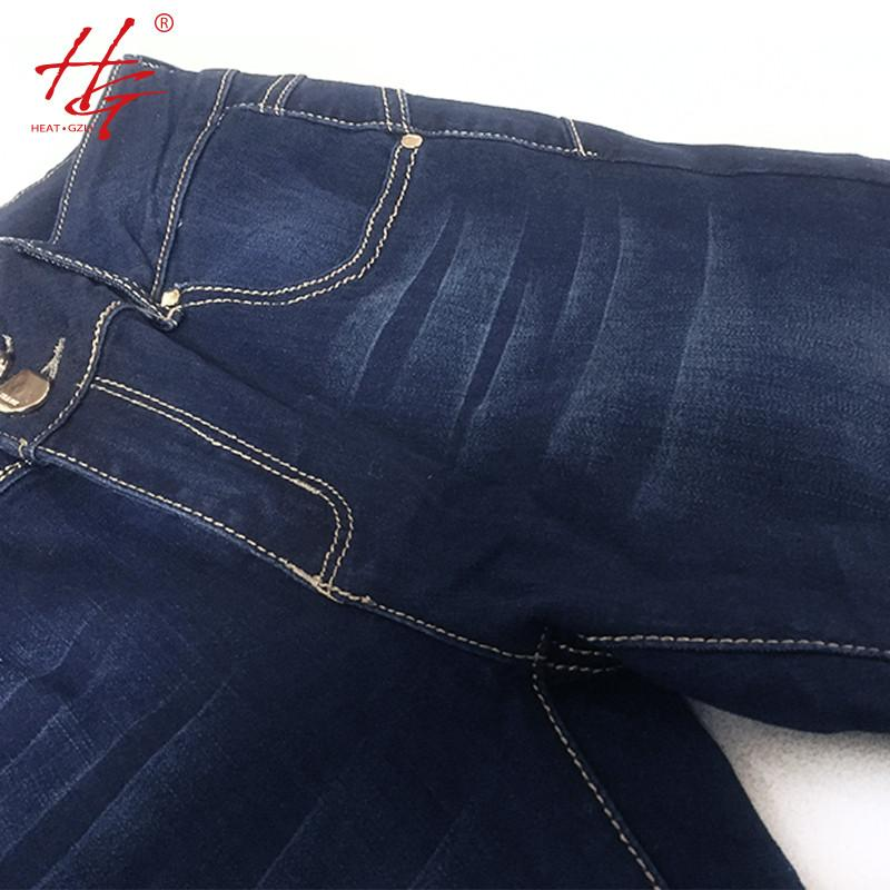 flare women jeans autumn bell bottom pants female deep blue denim pants HG brand mid-waisted jeans femme plus size-JEANS-SheSimplyShops