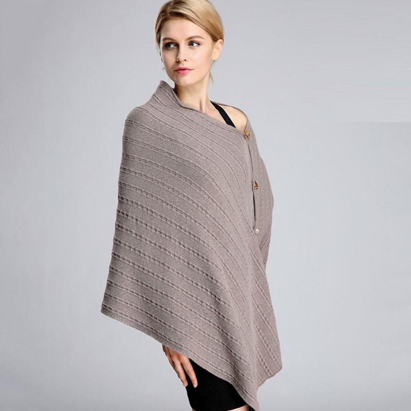 Knitted Thick Cashmere Winter Scarf Single-breasted Scarf Women Long Autumn Shawl Soft Fashion Red Wrap-SCARVES-SheSimplyShops