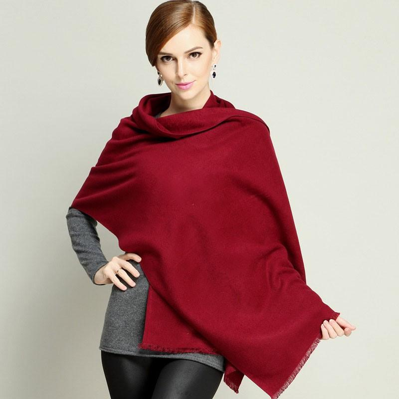 Autumn Outwear Scarf Women Red Winter Scarf Knitted Soft Cashmere Shawl Black Tassel Women Wrap-SCARVES-SheSimplyShops