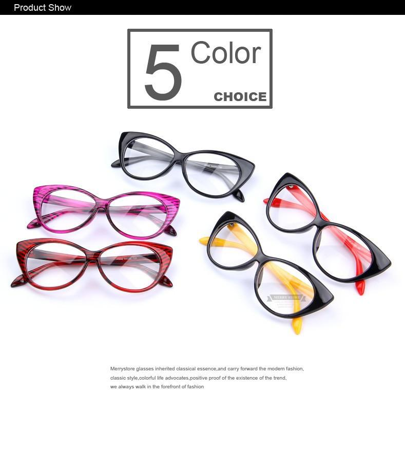 New Fashion Brand Women Cat Eye Plain Glasses Women Clear Cat Eye Glasses Frame High Quality Vintage Glasses For Women-ACCESSORIES-SheSimplyShops