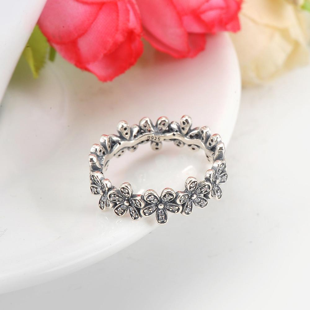 LZESHINE Vintage Antique Sterling Silver Rings Paved CZ Stone Flower Shape Women Rings Anel Bijoux Bague for Wedding PSRI0010-BAGS-SheSimplyShops