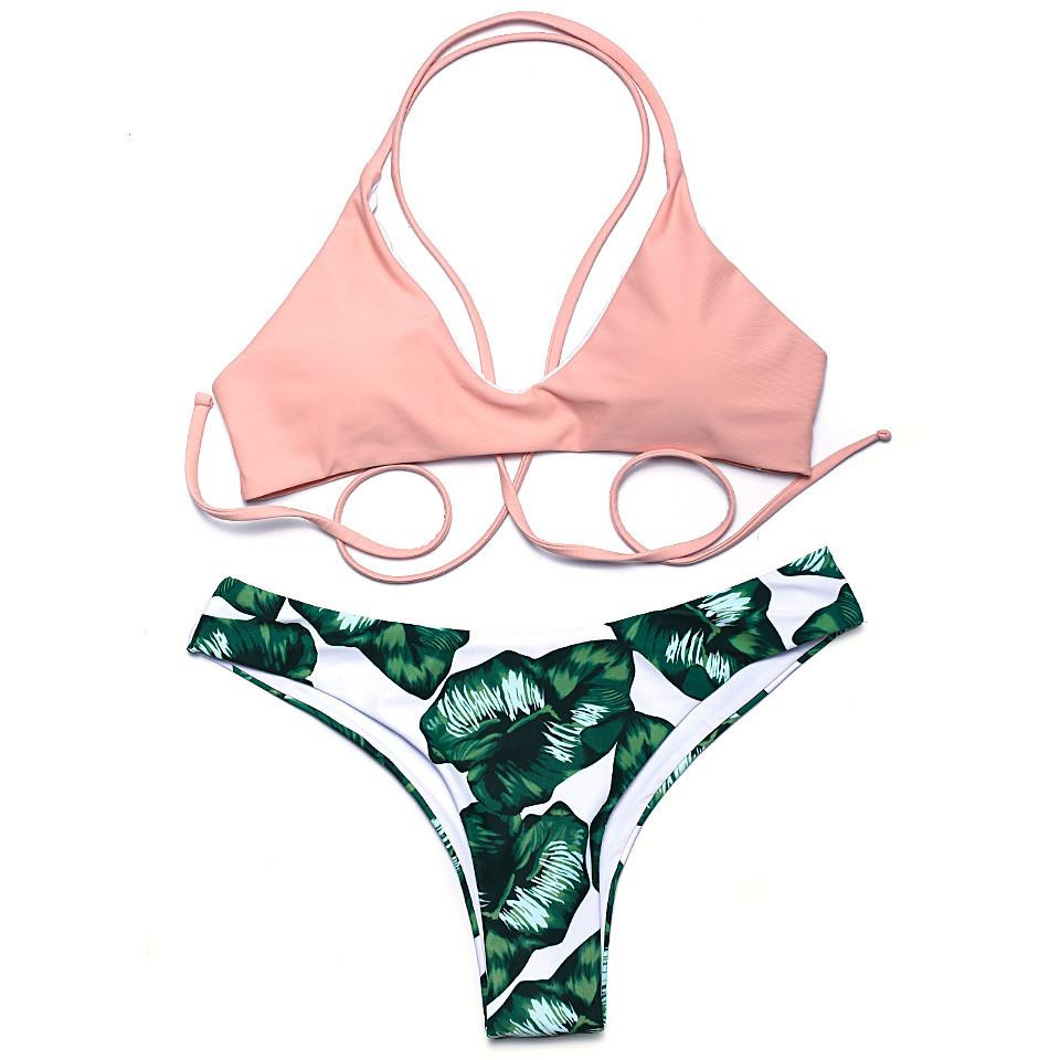 New Sexy Bikini Swimwear Women Swimsuit Biquini Halter Bikinis Set Bathing Suit Femme-Bottoms-SheSimplyShops