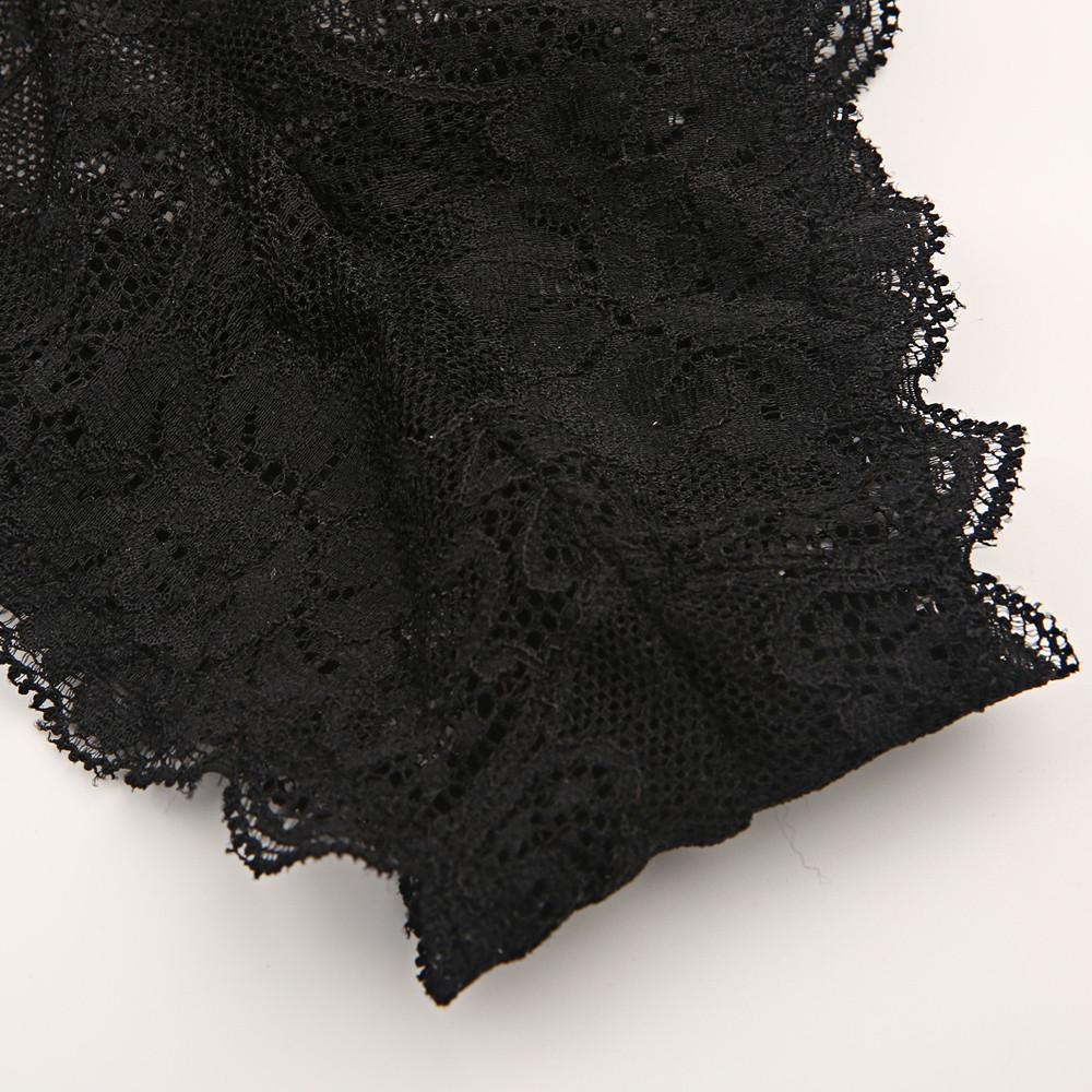 New Fashion Women Black Sexy Lace Nets Semi-sheer Underwear Breathable Soft Panties-PANTS-SheSimplyShops