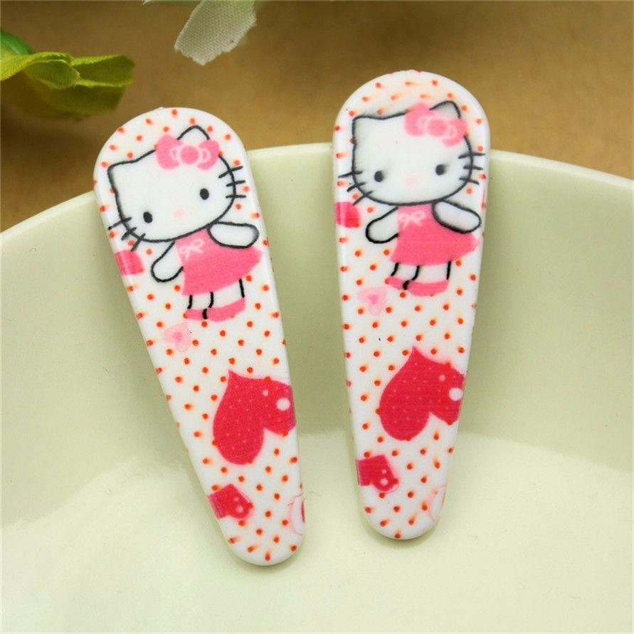 10Pcs Fashion Hair Accessories Cute Children Kid BB hair Clips Kitty Barrettes Baby Headband Girl Flower Animal Pattern Hairpins-BAGS-SheSimplyShops