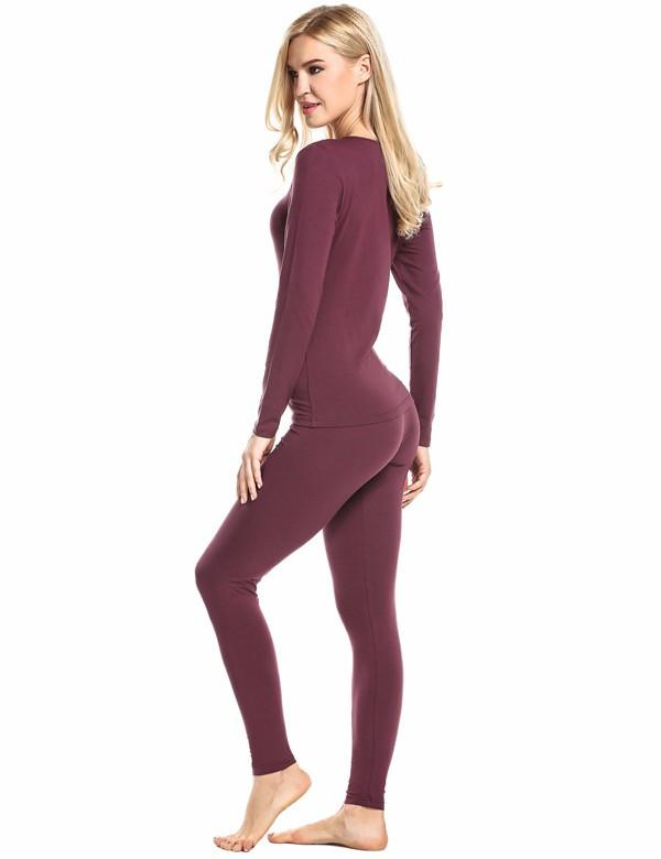 Sexy Ladies Thermal Underwears Set Warm Heat Long Johns Underwear Sets Women Slimming Seamless Body Suit Winter-Bottoms-SheSimplyShops